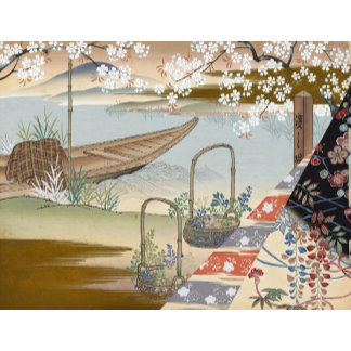 """""""Chinese Japanese Boat Poster Print"""""""