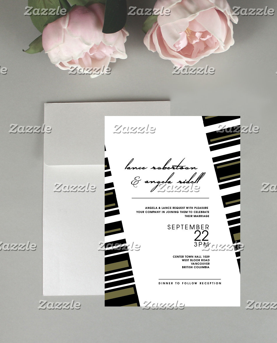 Geometric Wedding Stationary