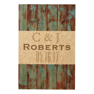 Wooden Wedding Guestbooks