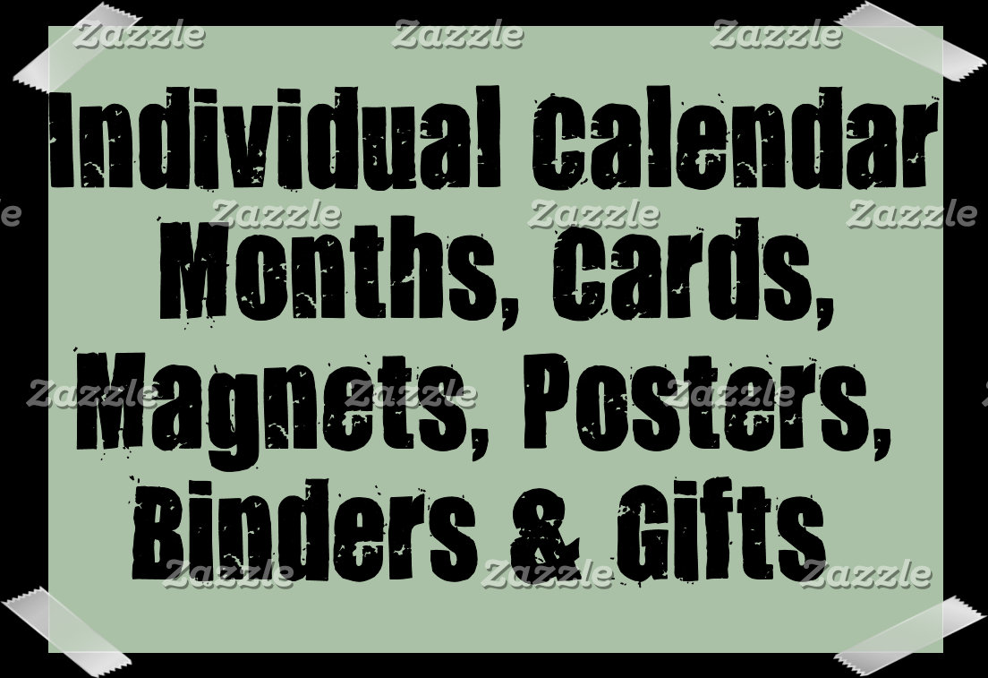 Individual Calendar Months Cards and Gifts