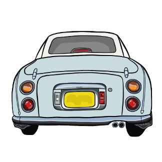 Pale Aqua Figaro Car