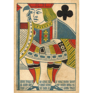 """""""Jack of Clubs Card Poster Print"""""""