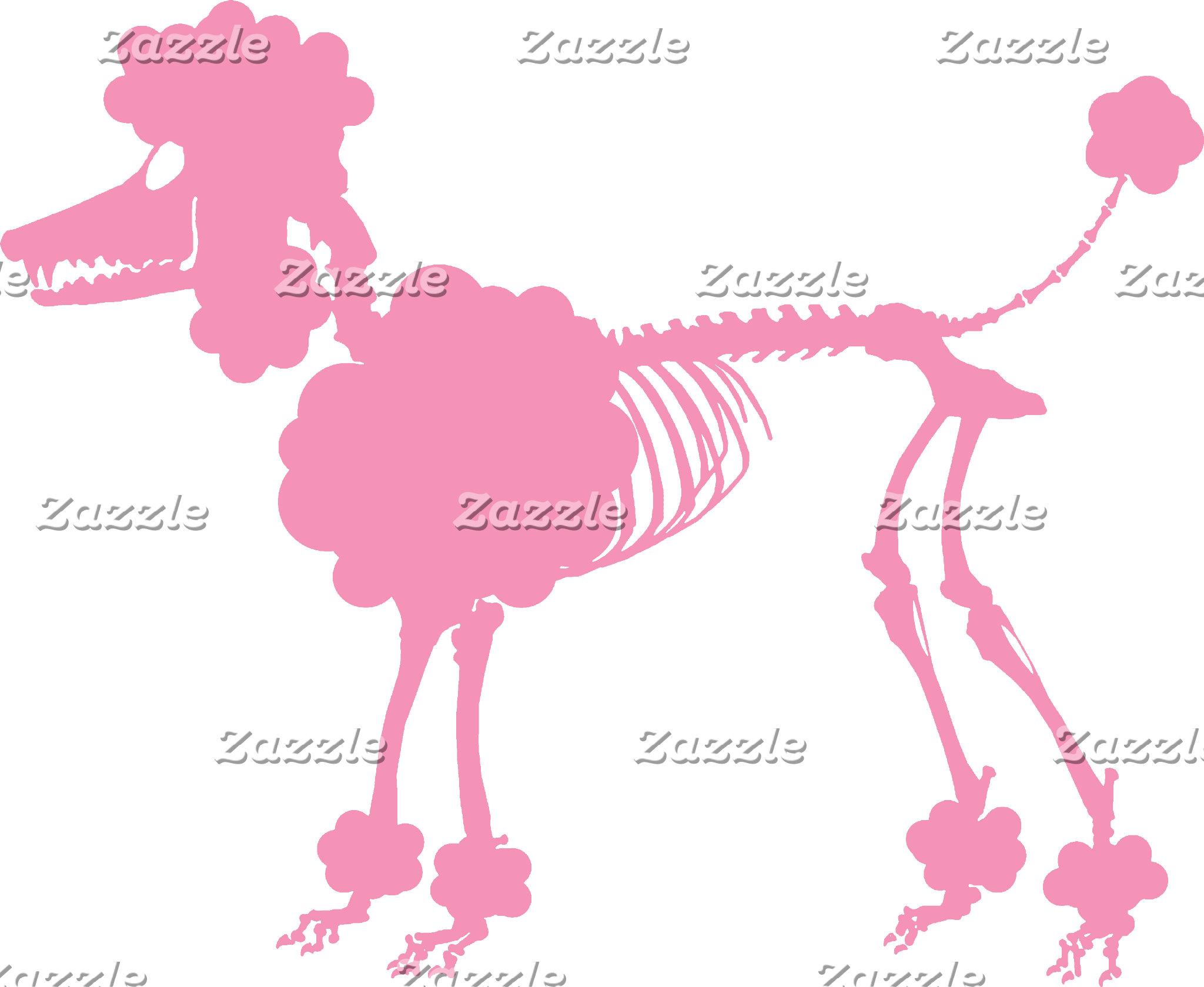 Pink Poodle Skeleton