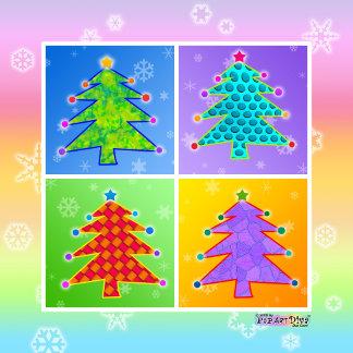 Pop Art Christmas Trees
