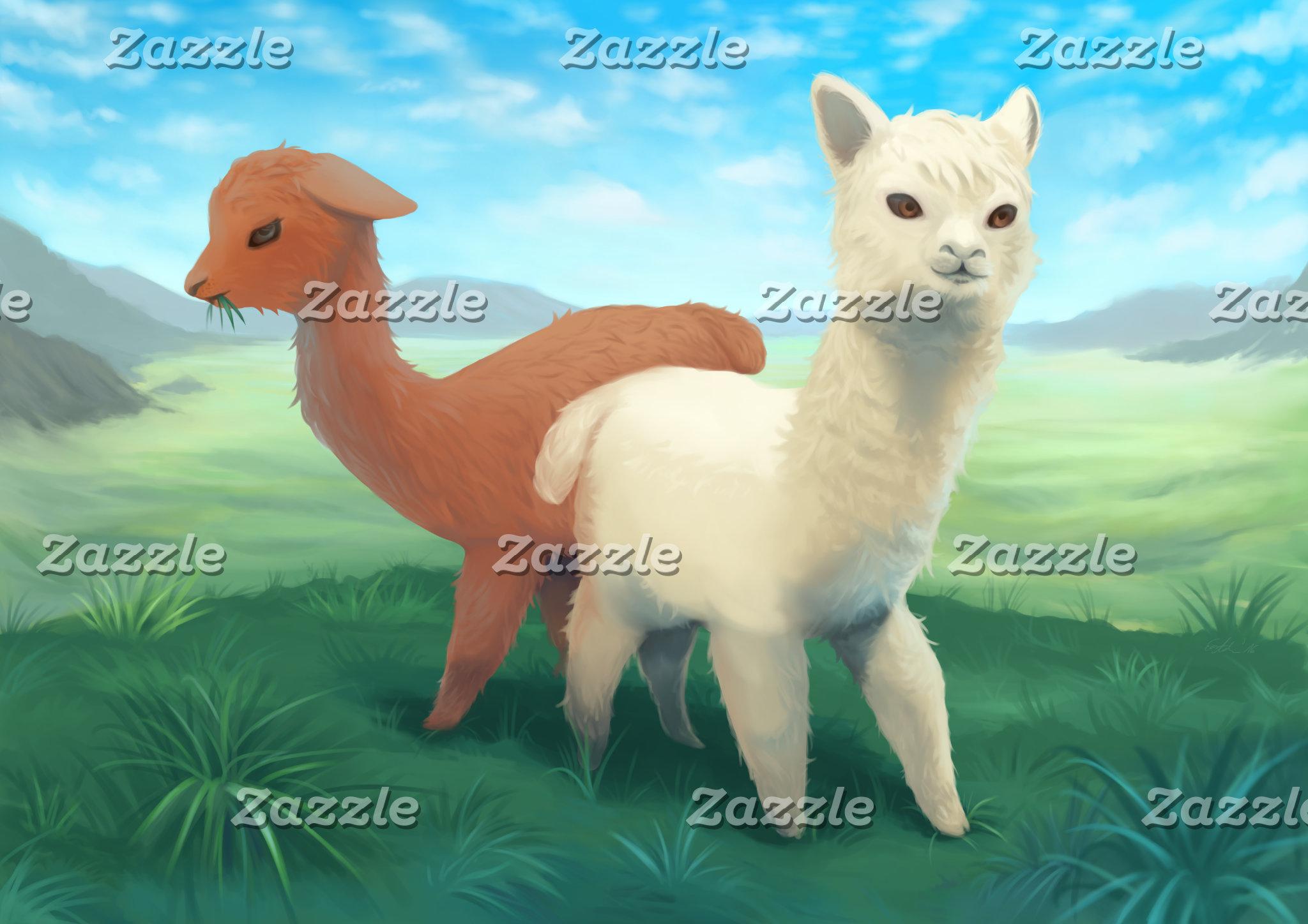 Alpacas on the Meadow