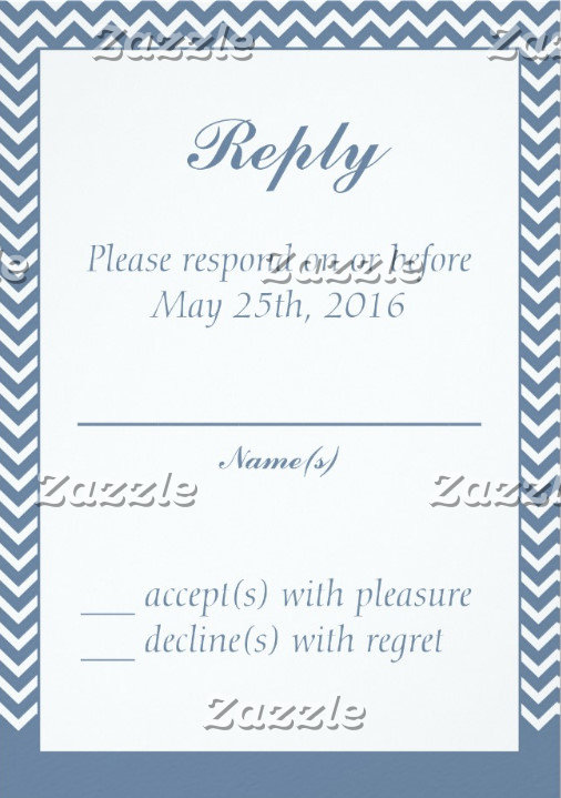 Wedding Reply Cards