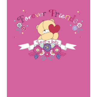 Forever Friends pink bear with heart