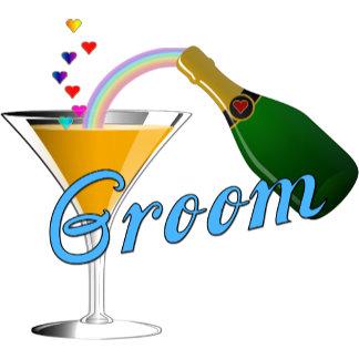Champagne Toast Groom Blue