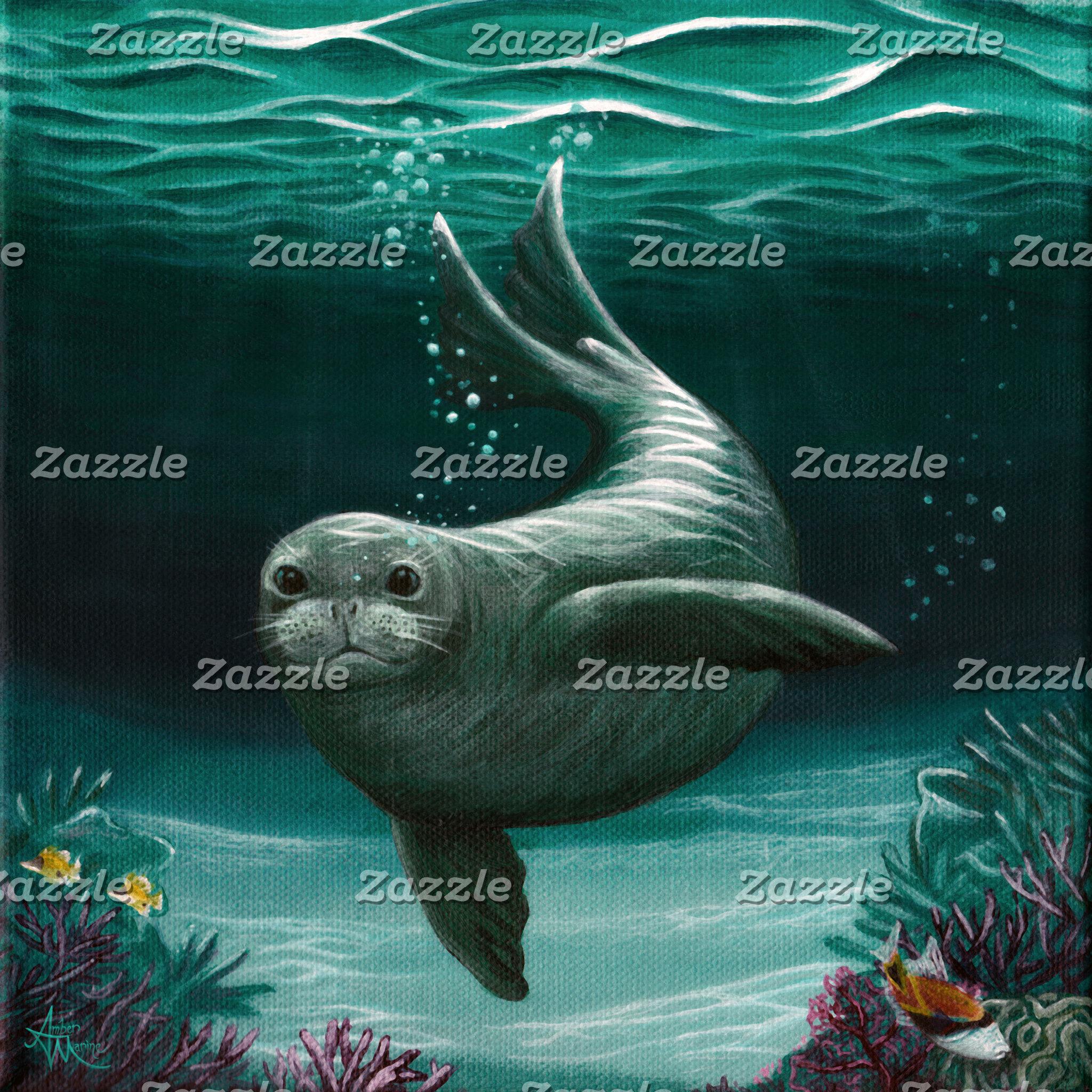 Art: Hawaiian Monk Seal