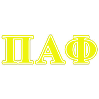 Pi Alpha Phi Yellow Letters