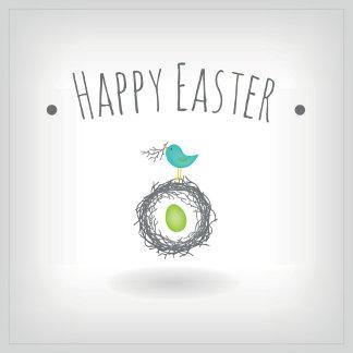 Easter Egg in Bird Nest Greeting Card