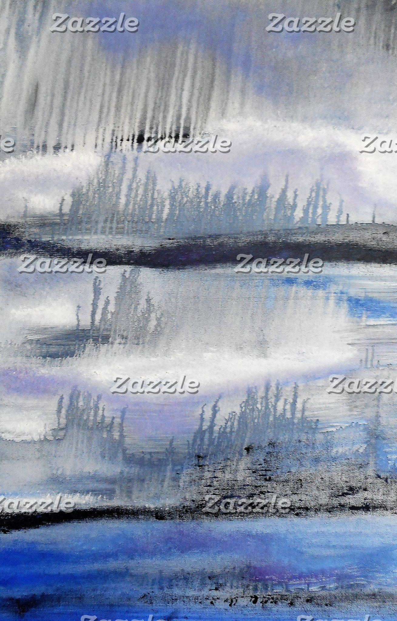 Blue Grey Abstract