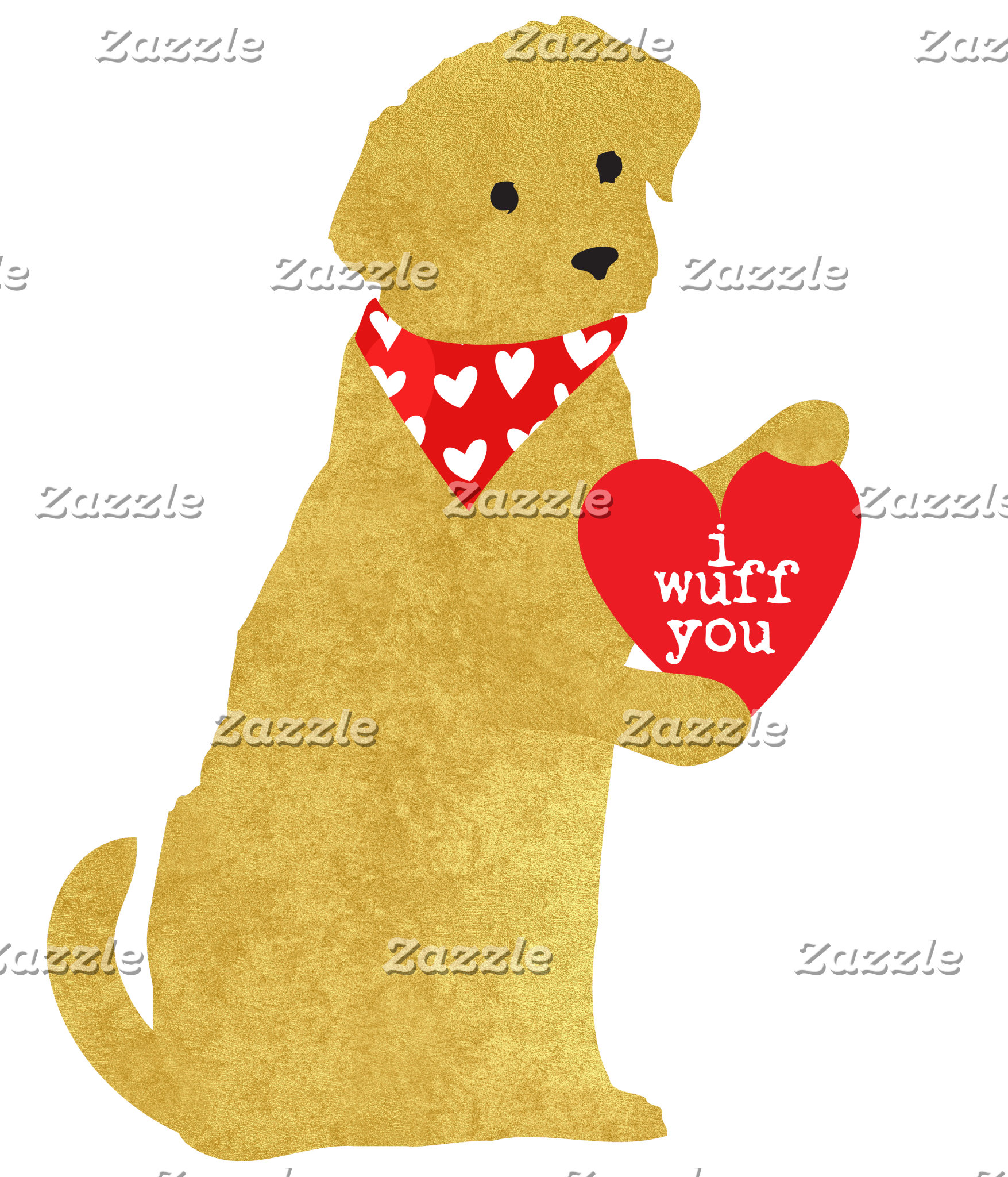 Valentine Golden Retriever