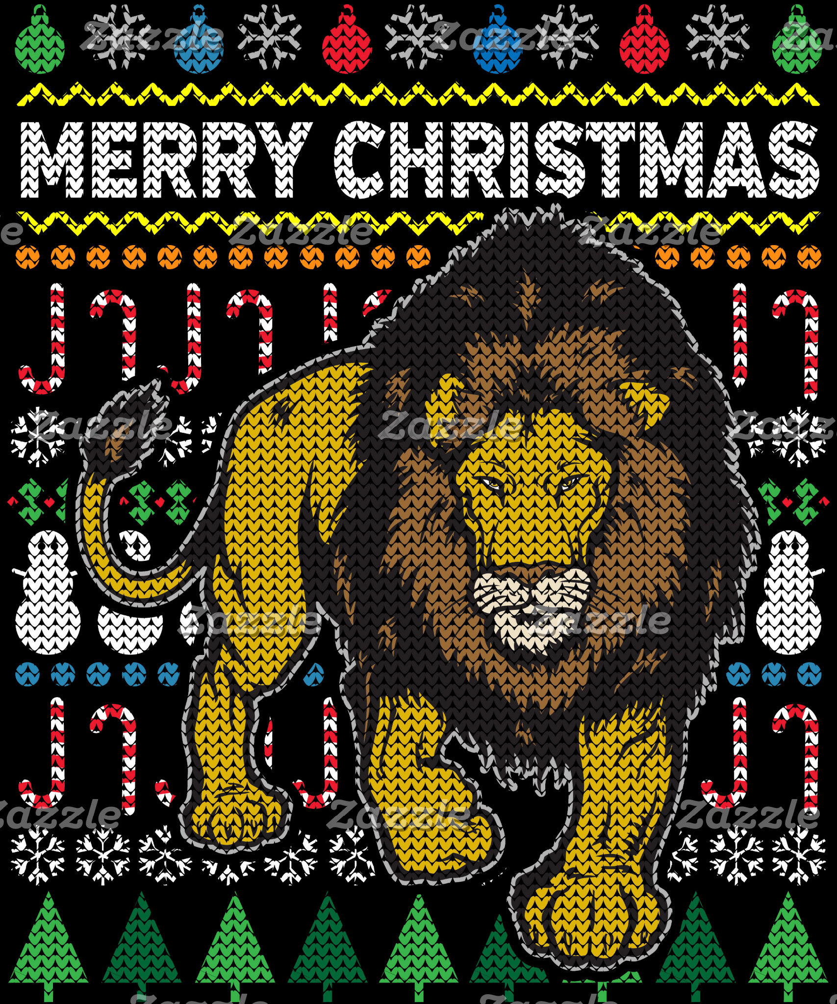 Lion Ugly Christmas Sweater