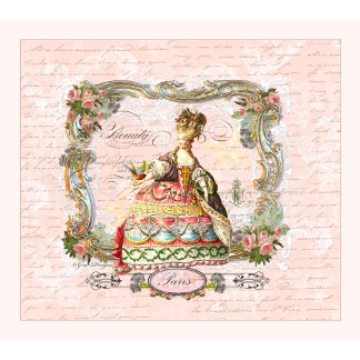 Marie Antoinette French Script in Pink