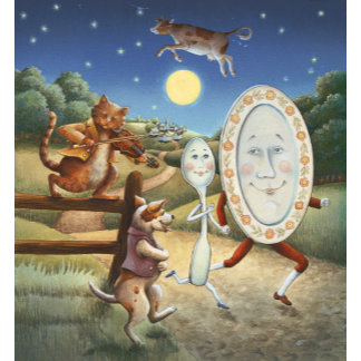 """""""Hey Diddle Diddle Mother Goose Poster Print"""" 2"""