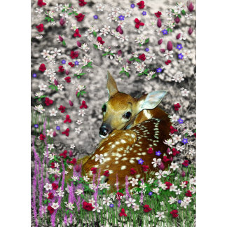 Bambina the Fawn in Flowers I