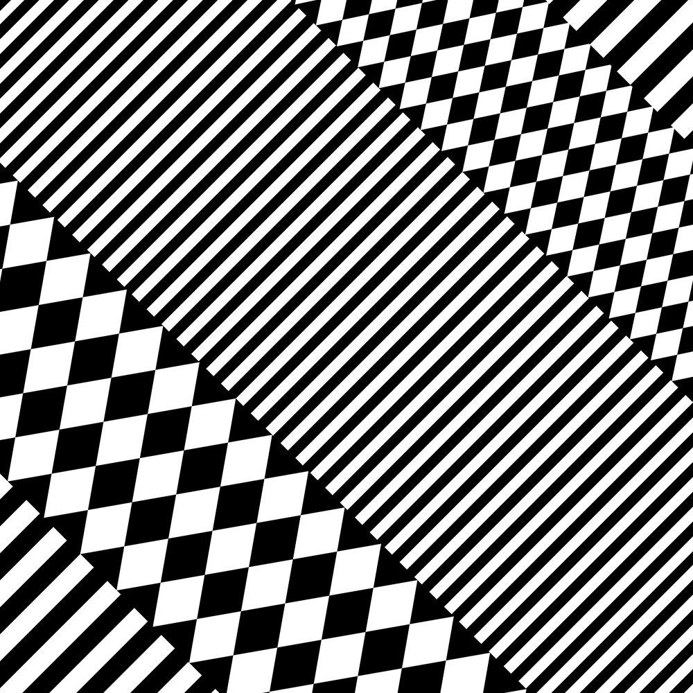Stylish Black White Geometric Patterns Monochrome