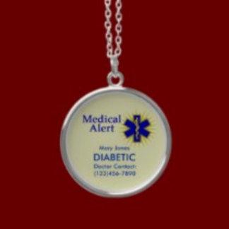 Allergy & Medical Alert Customizable Necklaces