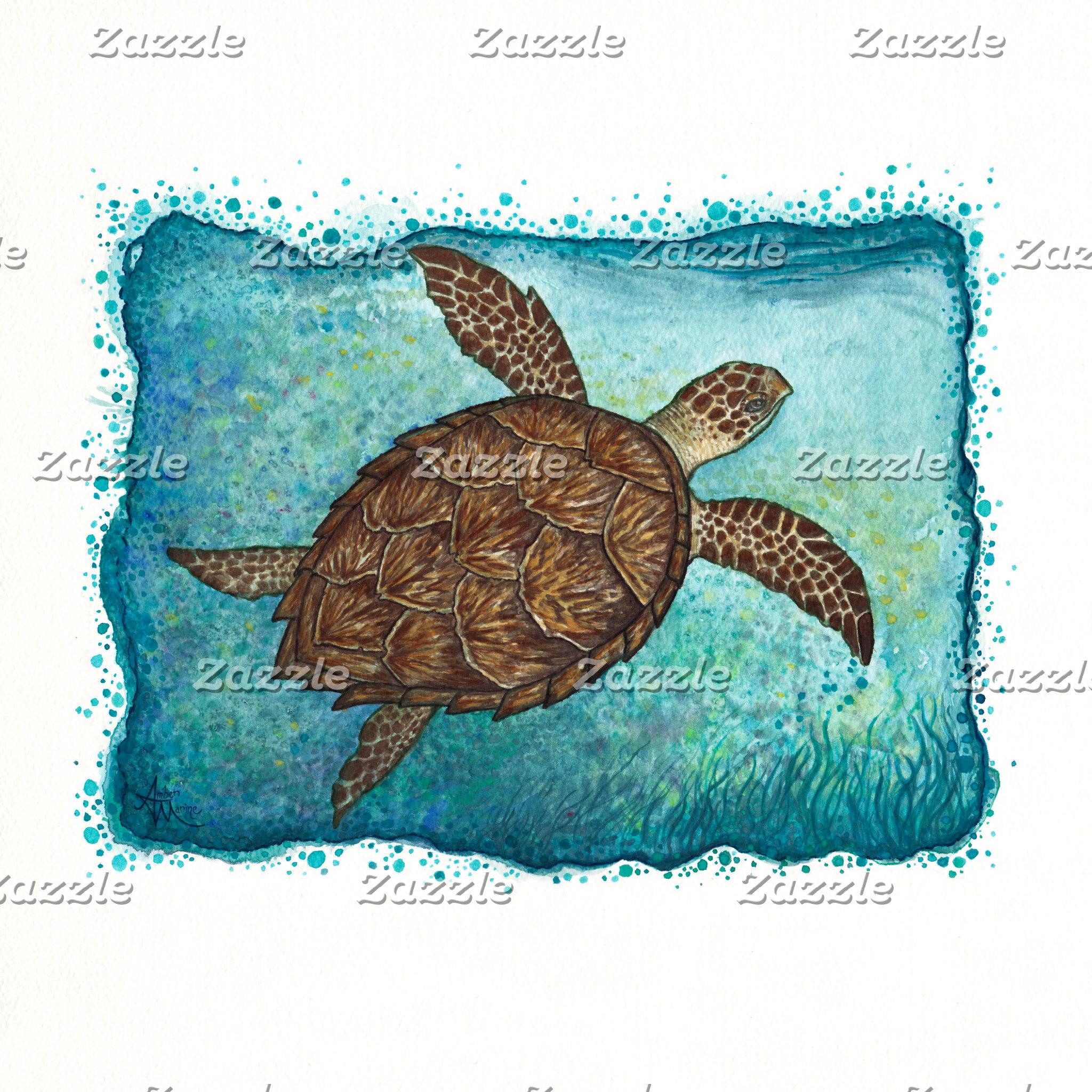 Art: Hawksbill Sea Turtle