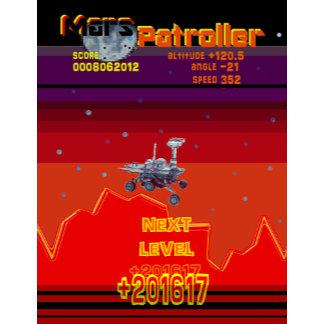 Retro Game 80's Style Arcade Mars Patroller