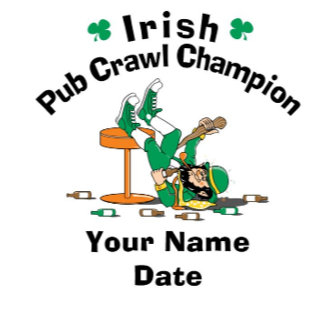 Personalized Pub Crawl Champion T-Shirt