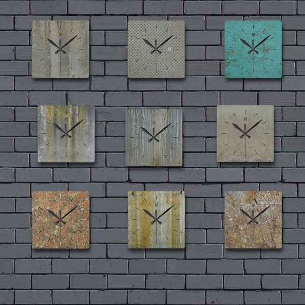 urban industrial wall clocks