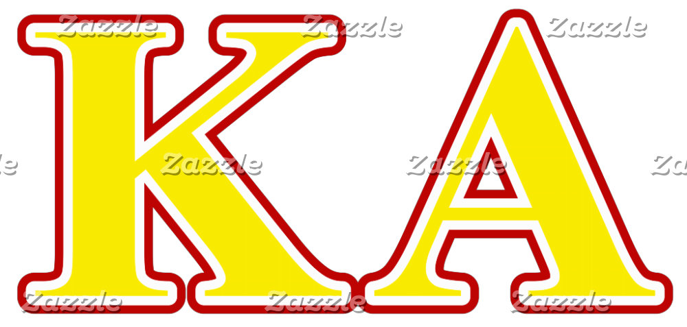 Kappa Alpha Order Red and Yellow Letters