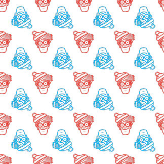 Red and Blue Face Pattern