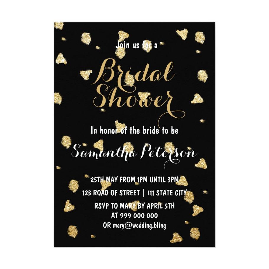 Elegant faux gold confetti Wedding