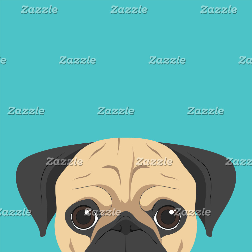 Pug Dog Portrait illustration