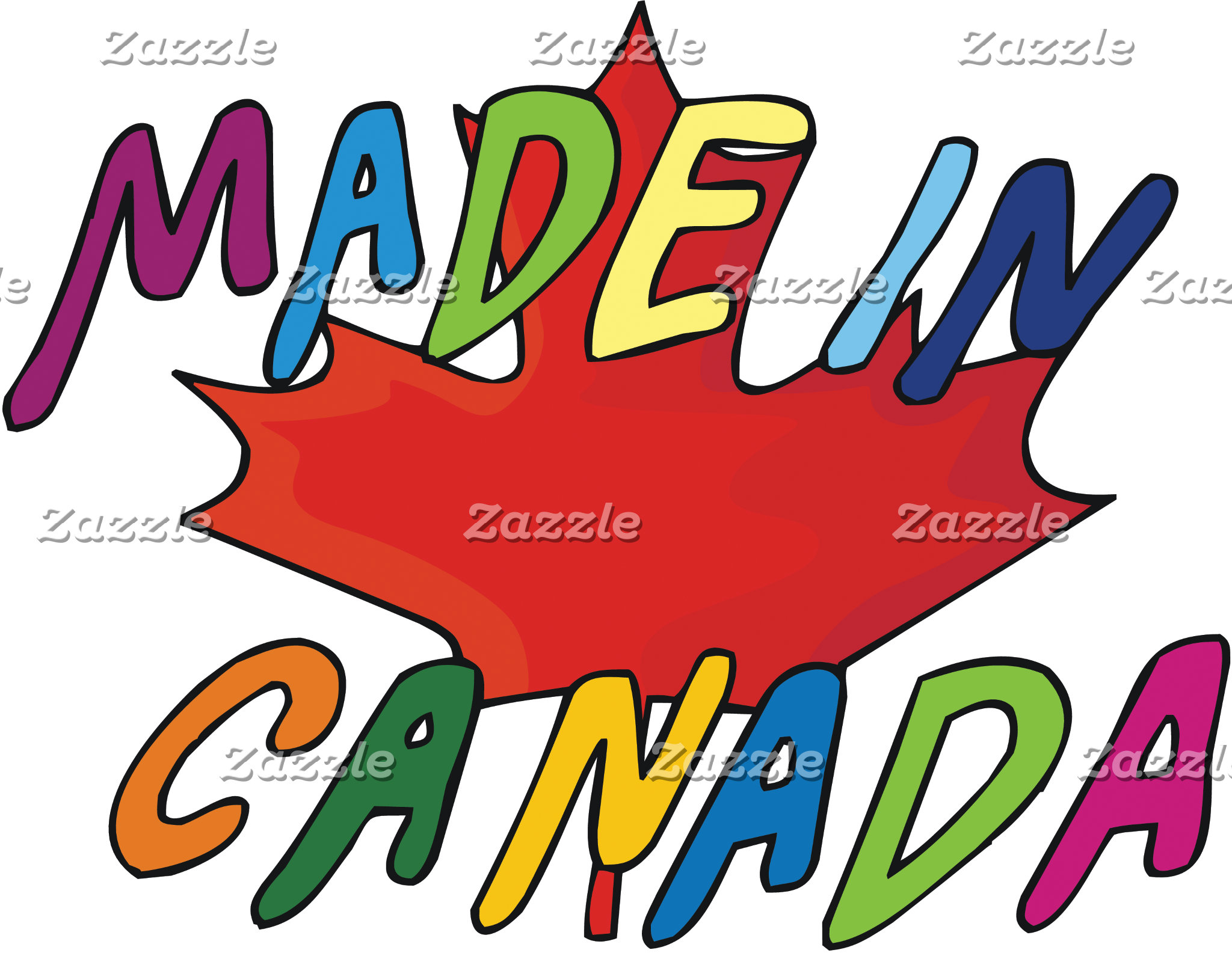 Made In Canada T-Shirt Gifts Cards