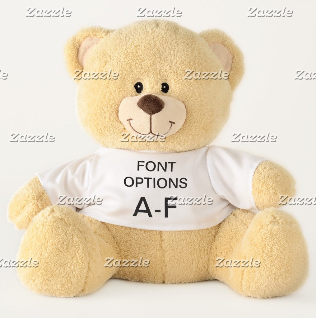 Teddy Bears ALL FONT OPTIONS A-F