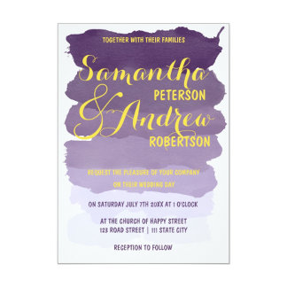 Purple Lavender Watercolor Wedding