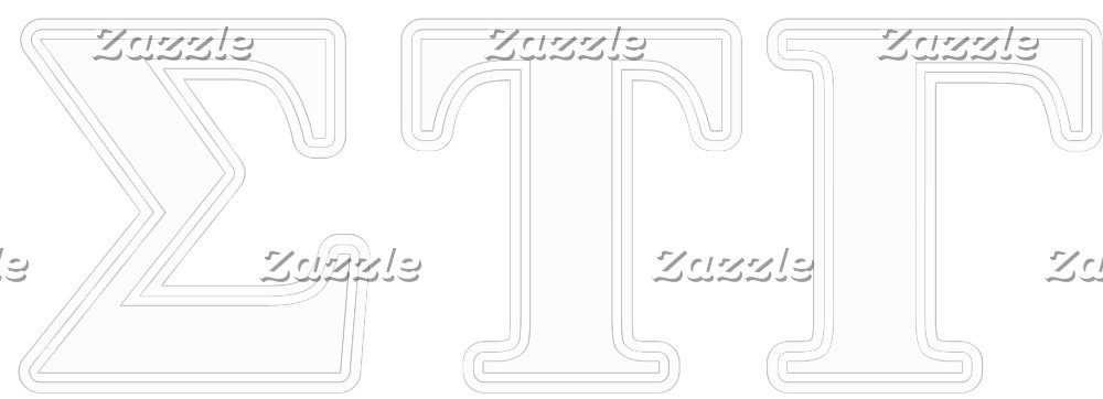 Sigma Tau Gamma White and Blue Letters