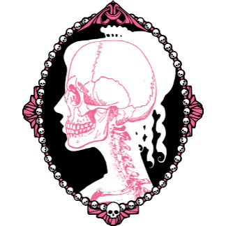 Pink Skull Cameo T-shirts and Gifts