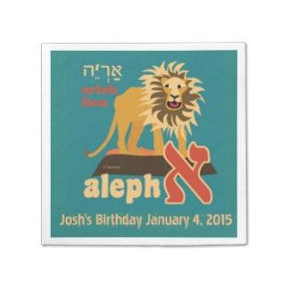 Aleph Bet Paper Napkins