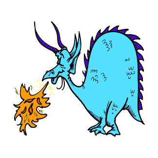 Fire Breathing Dragon Teal.png