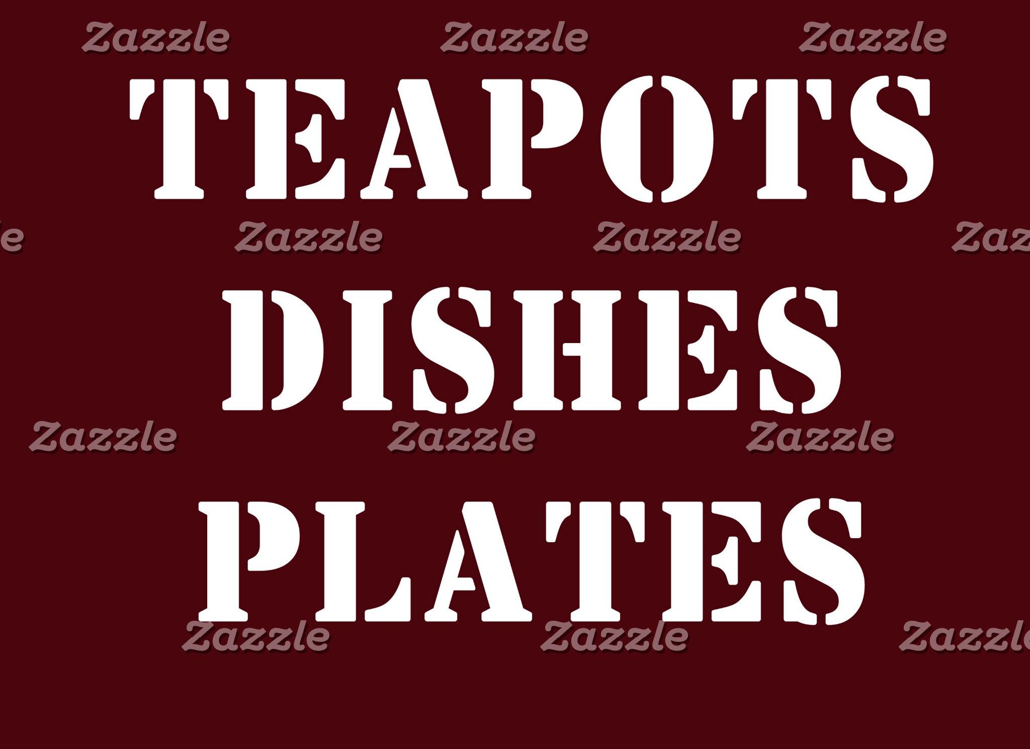 Dishes, plates, teapots, etc.