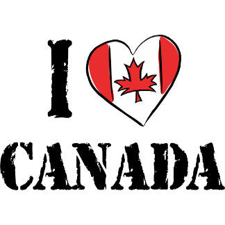 I Love Canada T Shirt Gift Cards