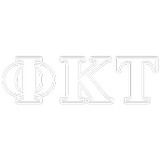 Phi Kappa Tau White and Red Letters