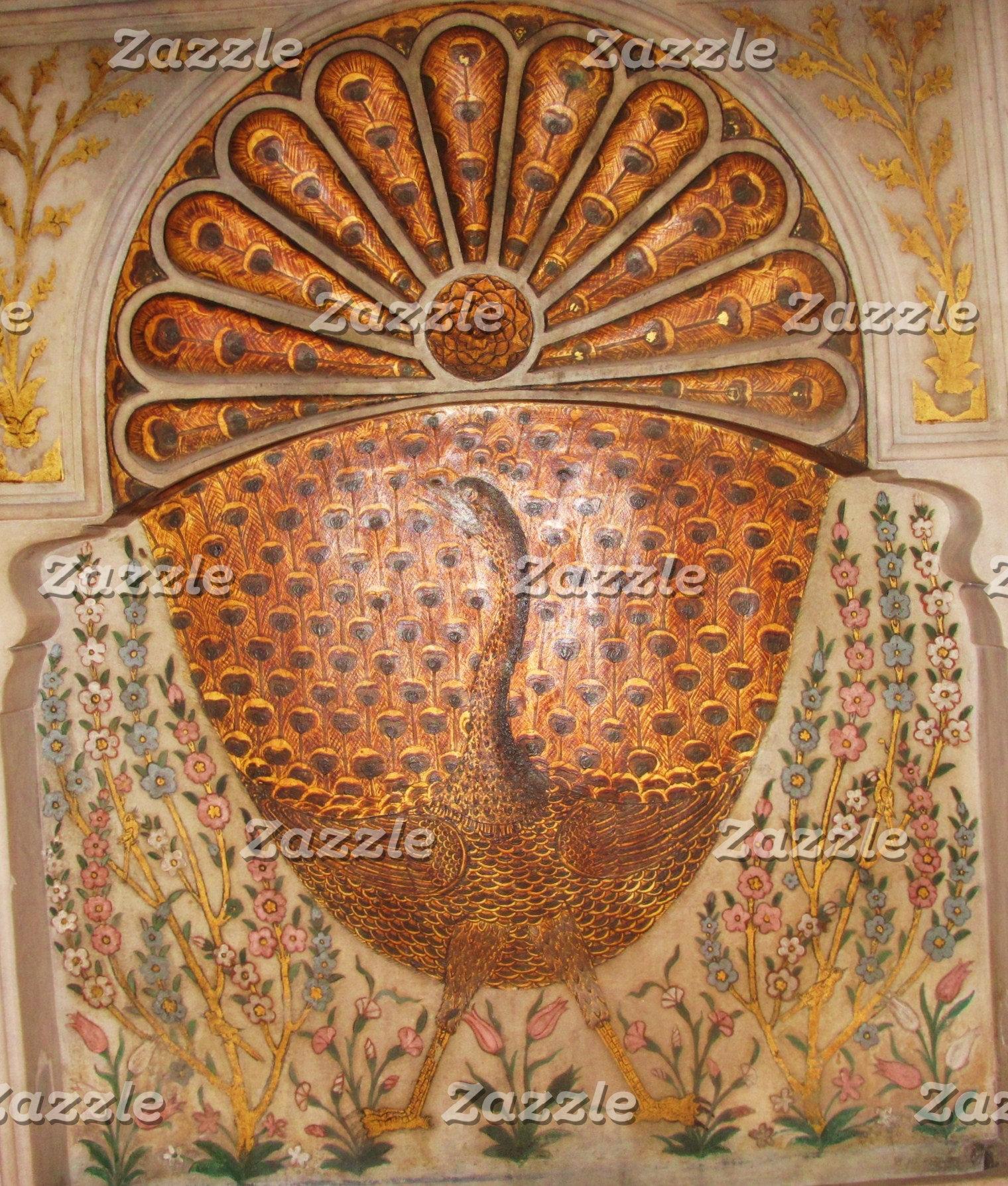 ottoman period golden peacock