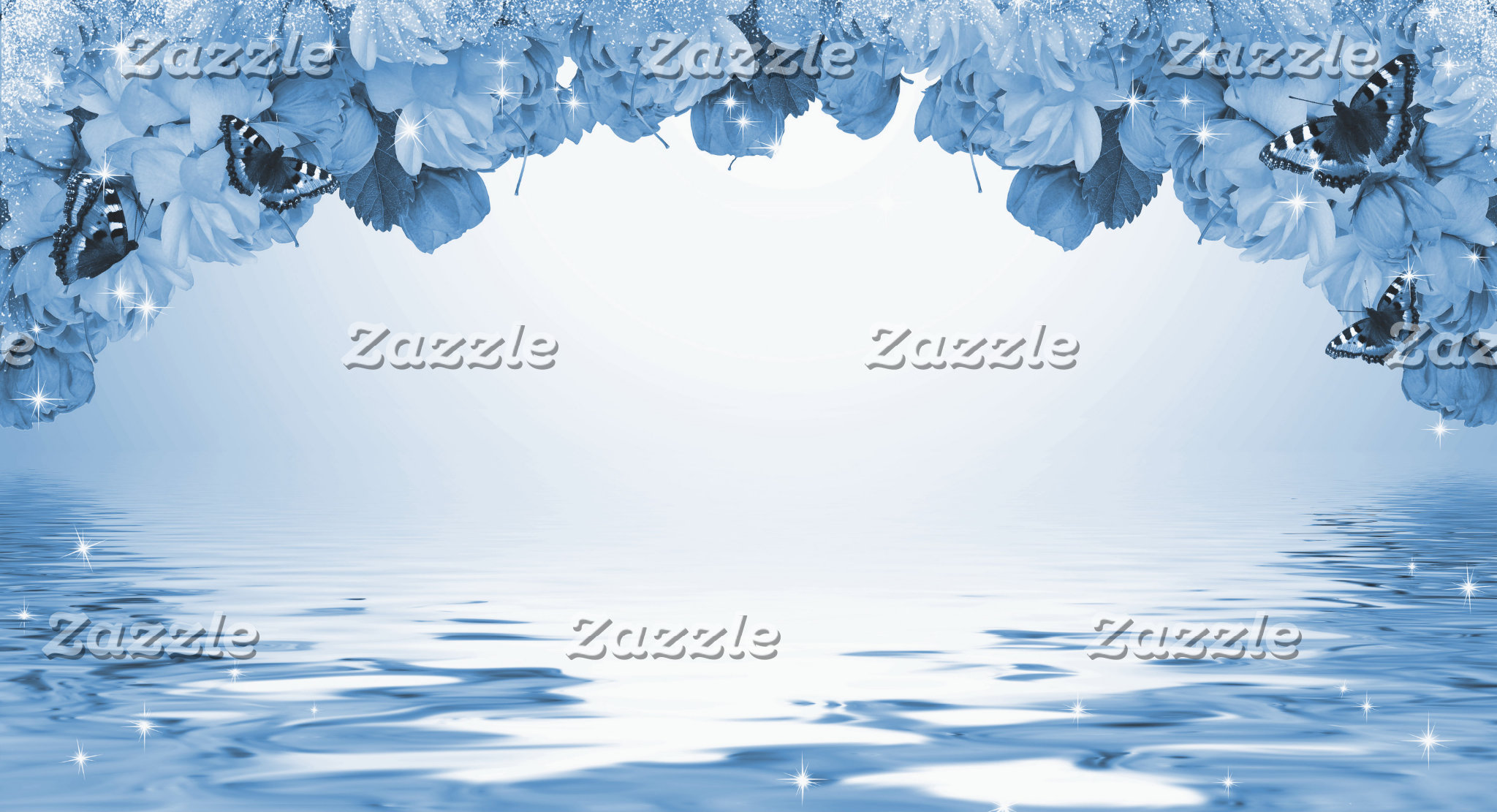 Cherry Blossoms Blue