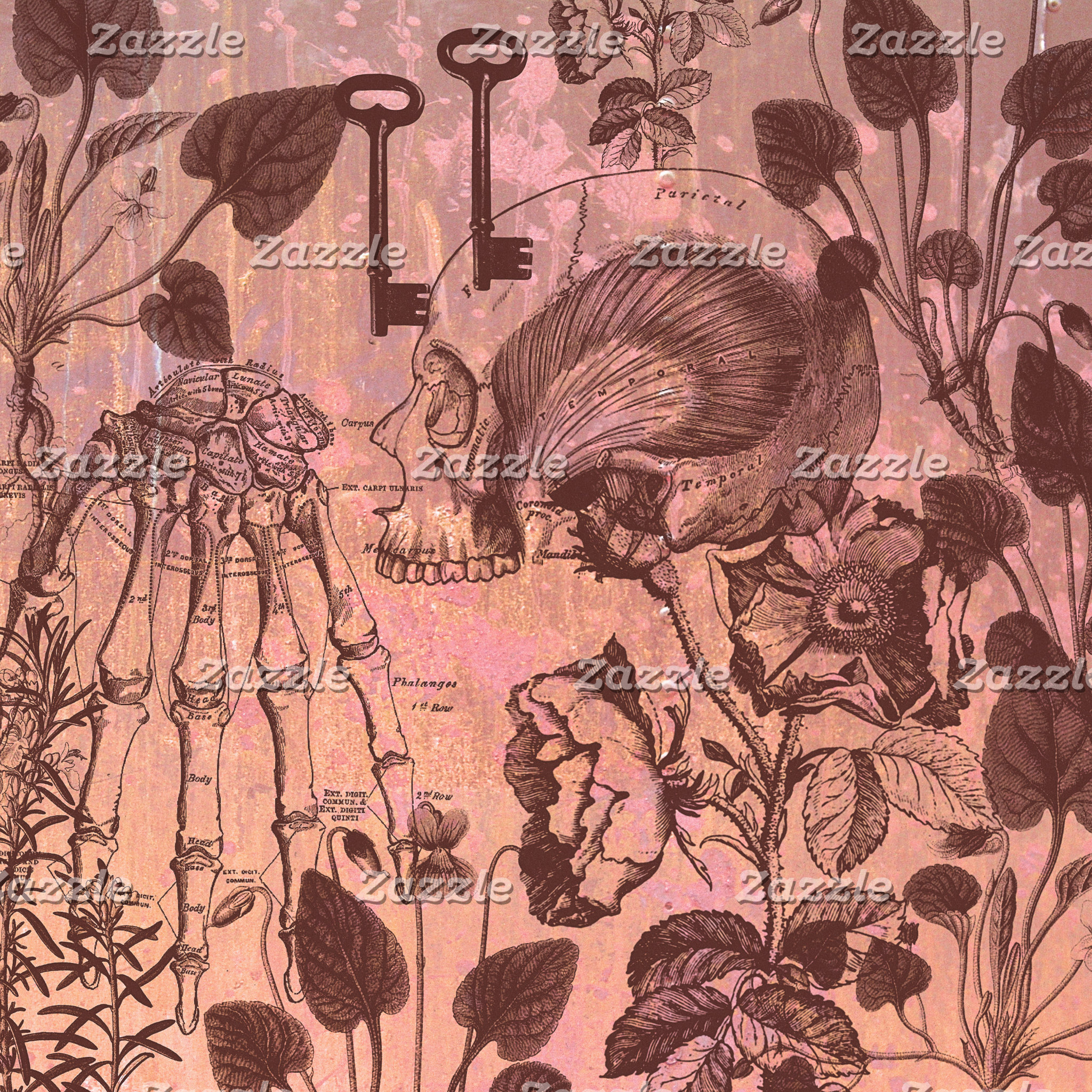 Rose Skull Collage