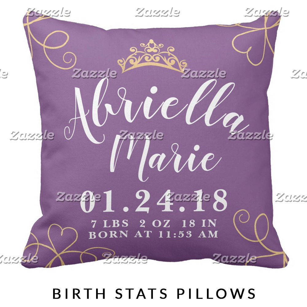 Birth Stats Pillows