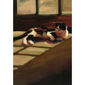 """""""Black and White Cat Poster Print"""""""