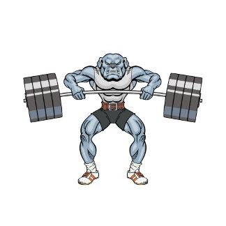 bulldog weight lifter