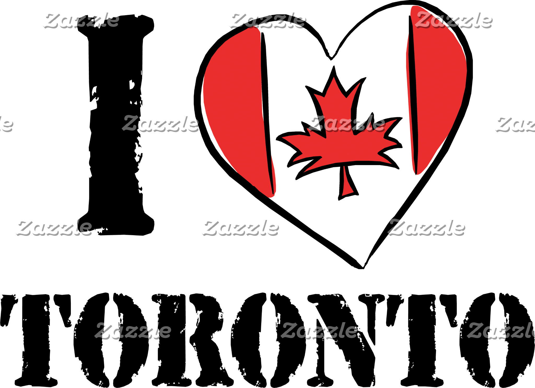 I Love Toronto Canada T-Shirt Gifts Cards