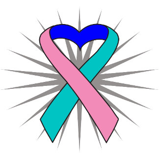 Thyroid Cancer Heart Ribbon