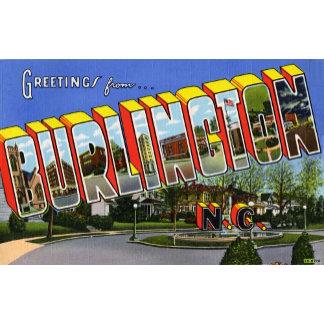 Greetings from Burlington North Carolina